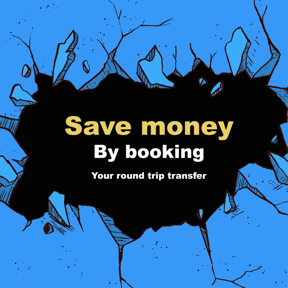 Save 20 usd on your round trip transportation